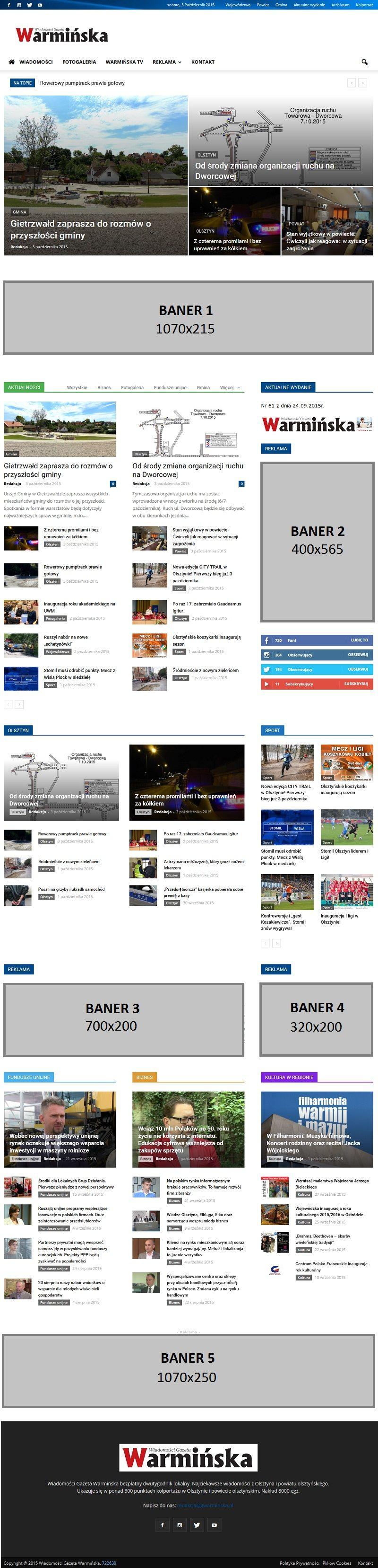 Reklama na stronie internetowej